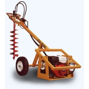 TOWABLE AUGER  ONE-MAN HYDRAULIC EARTH DRILL