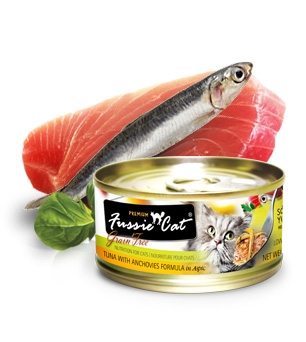 Fussie Cat® Premium Tuna with Anchovy in Aspic