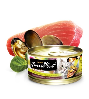 Fussie Cat® Premium Tuna with Clams in Aspic