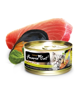 Fussie Cat® Premium Tuna with Mussels in Aspic