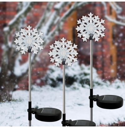 Solaris Solar Powered Snowflake Garden Lights