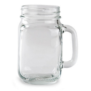 Libbey, 97084 16 Oz. Drinking Glass Mason Jar With Handle