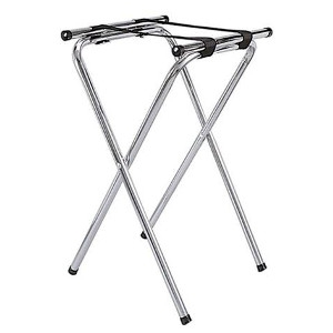 Chrome Folding Waiter's Tray Stand