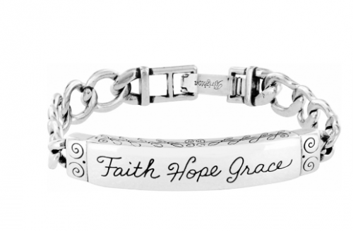 Faith Hope Grace ID Bracelet