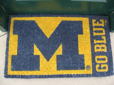 Michigan Go Blue Coir Floor Mat