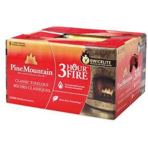 Jarden Home Brands, 6 Pack 3 Hour Traditional Fire Log