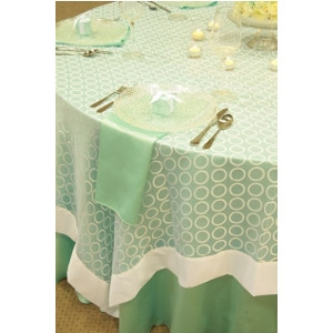 White Ringlets Table Linen