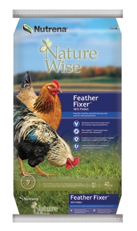 NatureWise® Feather Fixer Poultry Feed-18% Pellet-40 lbs