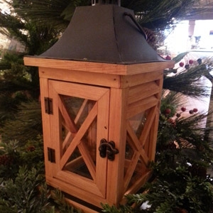 Melrose International Wooden Lantern