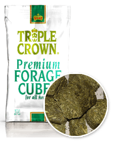 Triple Crown Premium Forage Cubes For Horse Feeding Supplementation-50 lbs