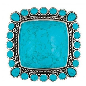 Rock 47® Rocks and Roll Pool of Blue Hinged Cuff Bracelet