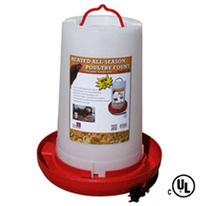 3-Gallon Heated Poultry Fountain