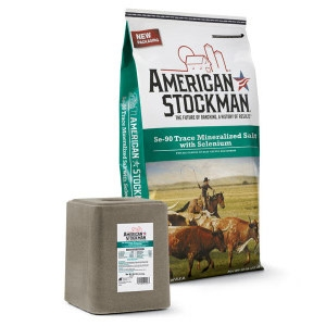American Stockman® SE-90 Trace Mineralized Salt with Selenium