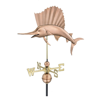 Good Direction's Copper Sailfish Weathervane