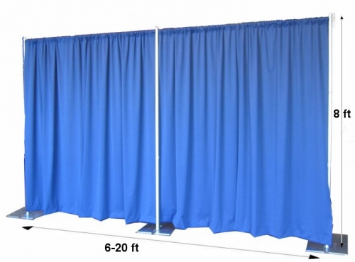 Pipe & Drape, 8' High, Standard (banjo cloth)