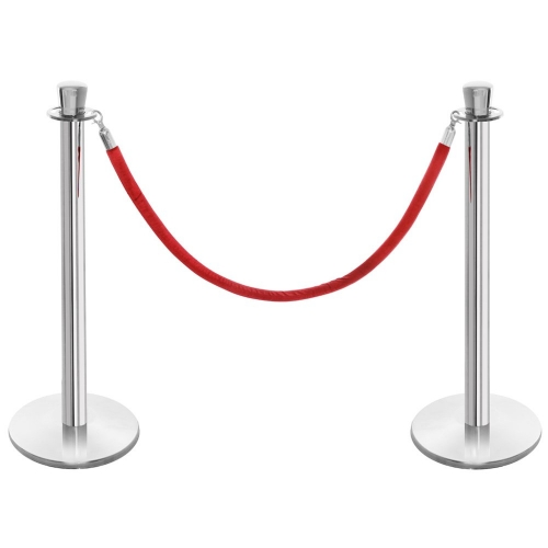 Chrome Stanchion (velvet ropes rented separately)