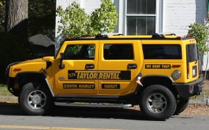 Tj's Taylor Rental Yellow Hummer