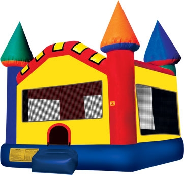 Castle Jump, Multi Colored, (Moon Bounce)