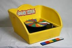 Color Wheel:  Table Top Carnival Game