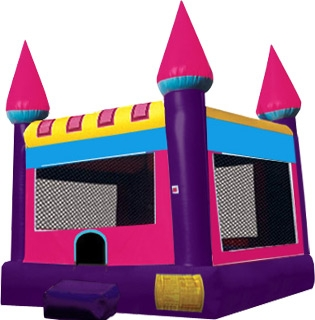 Castle Jump, Pink/Purple (Moon Bounce)