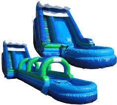 24' Tall Giant Slip & Dip with Slip & Slide attachment