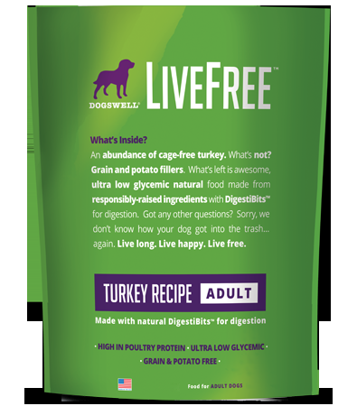 Dogswell Livefree Adult Turkey Dry Dog Food