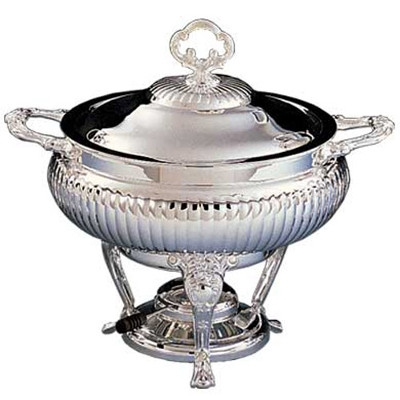 3 Quart Imported Queen Anne Silver Chafer