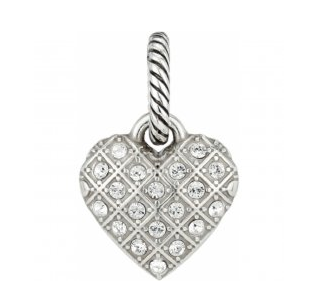 Brighton Diamond Heart Charm