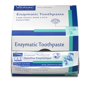 Virbac Animal Health C.E.T. Enzymatic Poultry Toothpaste for Dogs and Cats