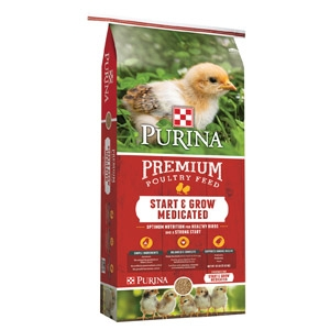 Purina® Start & Grow® Medicated Chick Starter with AMP .0125 - 50lbs.