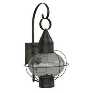 Sandwich Lantern, Solid Brass Onion Wall/Pole Lantern