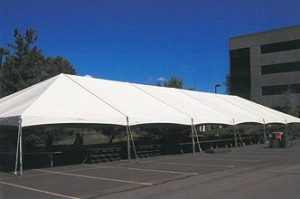 40ft X 140ft Twin Tube Plus Frame Tent