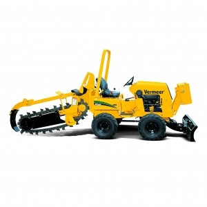 Vermeer RT450 Ride-on tractor w/ optional trencher and plow.