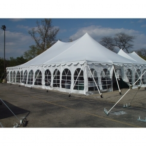 40x40, 40x60, 40x80, 40x100, & 40x120' High Peak Tension Pole Tent