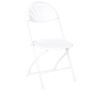 White Fanback Chair