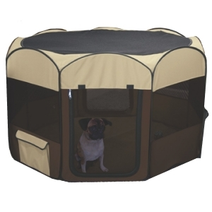 Deluxe Pop Up Playpen Tan Large
