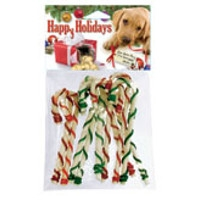 "10 Pack, 5"" Holiday Canes with Color Lace, Dog Treats"