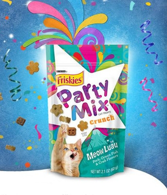 Party Mix Crunch Cat Treats - Meow Luau