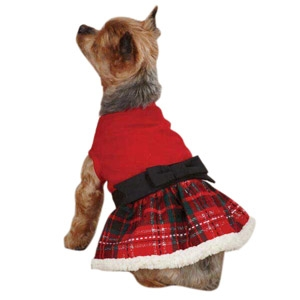 Petedge Yuletide Tartan Party Dress- MED/Red