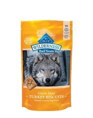 Blue Buffalo Wilderness Turkey Biscuit Dog 10OZ C=6