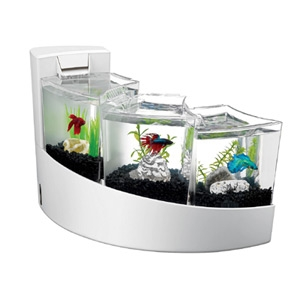 Aqueon Betta Falls White Aquarium Kit