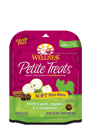 Wellness Petite Treats Soft Mini Bites w/Lamb, Apples & Cinnamon Dog Snacks