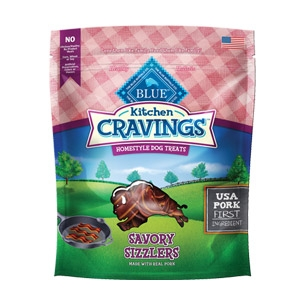BLUE Kitchen Cravings™ Pork Sizzlers Dog Treats