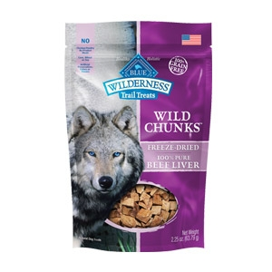 Blue Wilderness Trail Treats® Beef Liver Wild Chunks™ Dog Treats