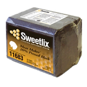 Sweetlix® Meat Maker® 20% Pressed Goat Block