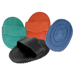 Ozark Leather Rubber Curry Comb Green