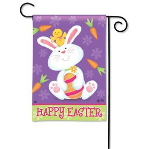 BreezeArt® Bunny and Chick Garden Flag