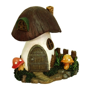 Solar Toadstool Fairy or Gnome Home