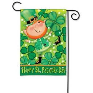BreezeArt® Leprechaun Garden Flag