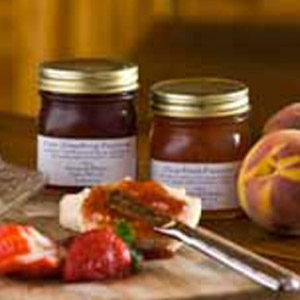 House of Webster 2 Jar Strawberry & Peach Preserves Gift Pack